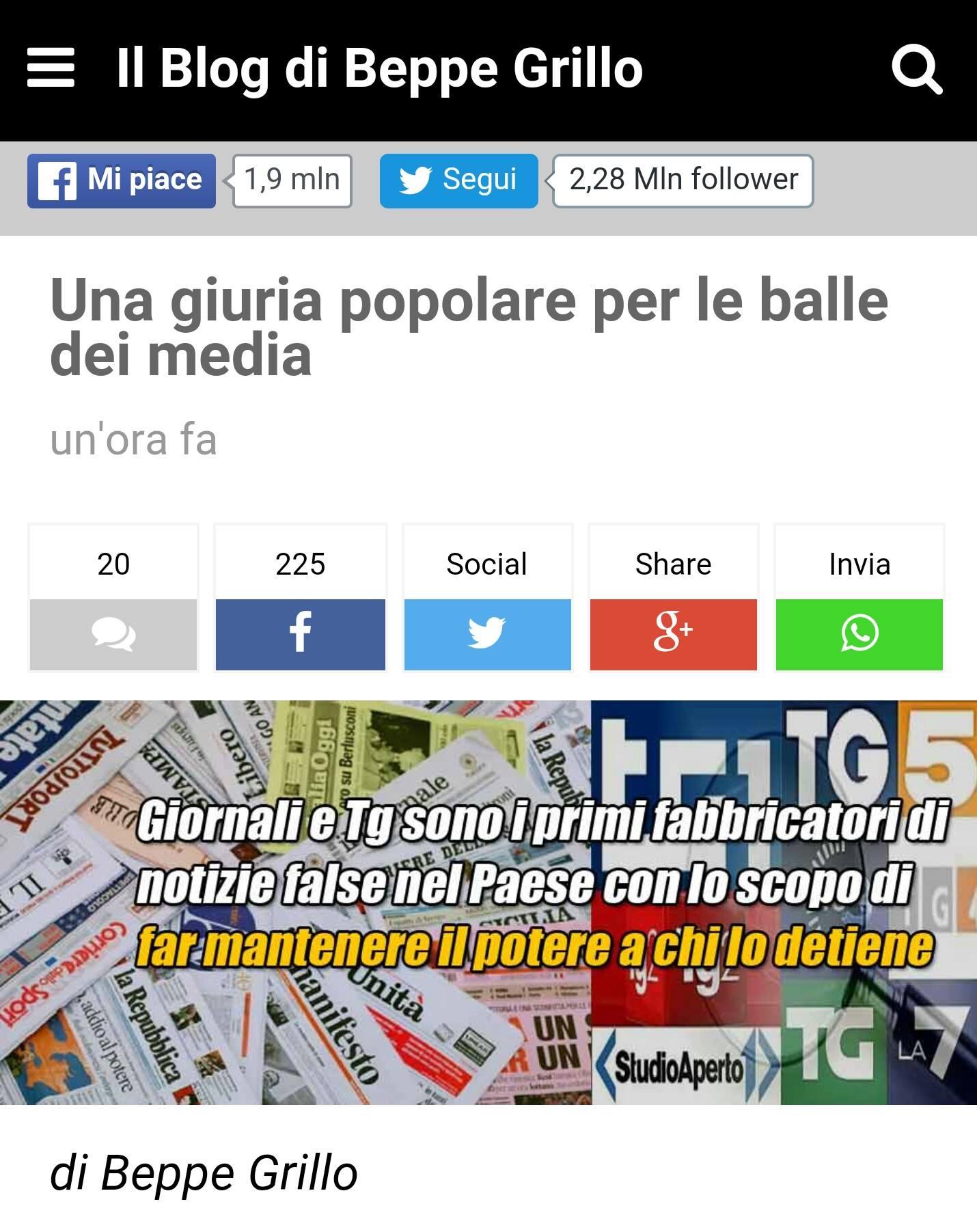 Movimento Cinque Stelle approva la svolta garantista di Grillo