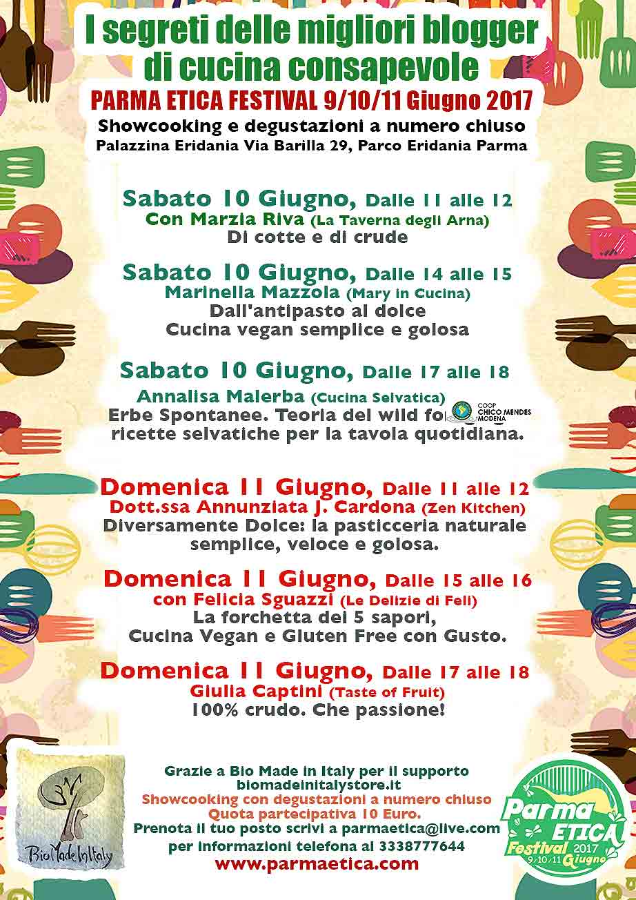 torna il parma etica festival: il più grande evento etico in ... - Corsi Cucina Parma