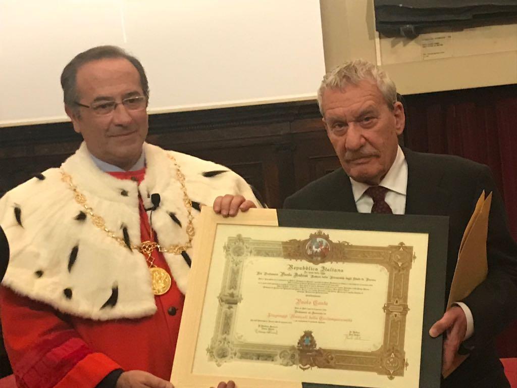 Parma, Paolo Conte professore universitario: la cerimonia
